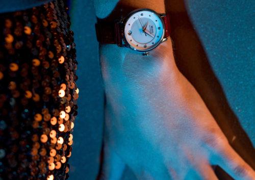 Mido Swiss automatic watches Baroncelli LadyDayNight M039 207 16 106 00 red strap night PR 4