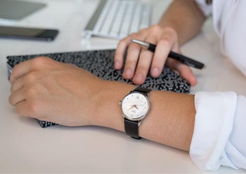 Mido Swiss automatic watches Baroncelli LadyDayNight M039 207 16 106 00 black strap work PR 7