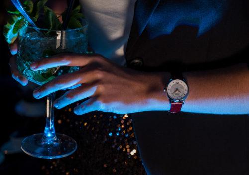 Mido Swiss automatic watches Baroncelli LadyDayNight M039 207 16 106 00 red strap night PR