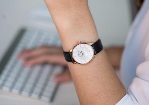 Mido Swiss automatic watches Baroncelli LadyDayNight M039 207 16 106 00 black strap work PR 2