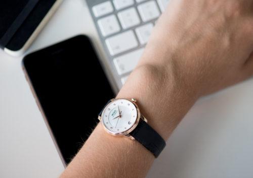 Mido Swiss automatic watches Baroncelli LadyDayNight M039 207 16 106 00 black strap work PR 8