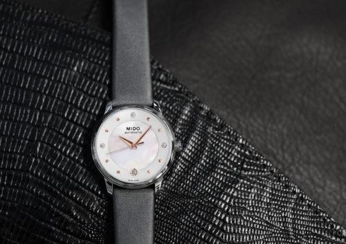 Mido Swiss automatic watches Baroncelli LadyDayNight M039 207 16 106 00 grey strap shop PR 2