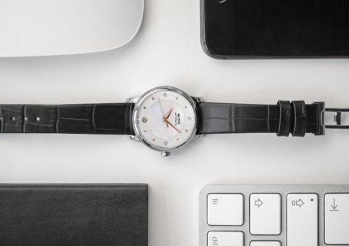 Mido Swiss automatic watches Baroncelli LadyDayNight M039 207 16 106 00 black strap work PR 6