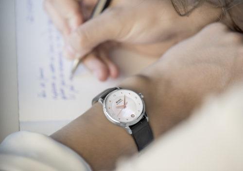 Mido Swiss automatic watches Baroncelli LadyDayNight M039 207 16 106 00 black strap work PR 4