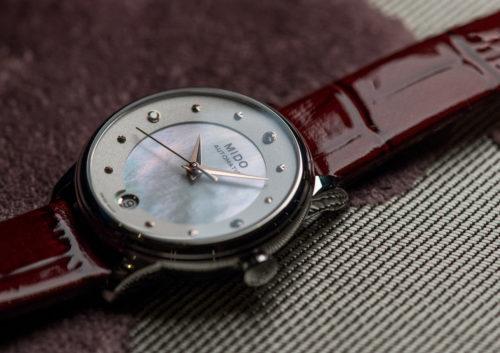 Mido Swiss automatic watches Baroncelli LadyDayNight M039 207 16 106 00 red strap night PR 7