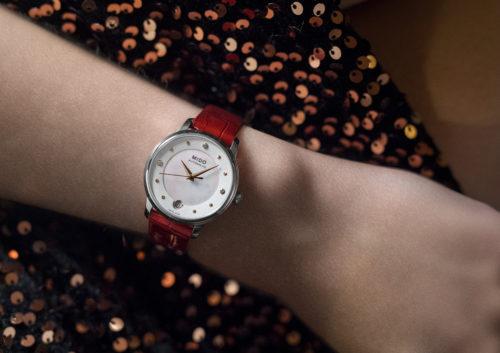 Mido Swiss automatic watches Baroncelli LadyDayNight M039 207 16 106 00 grey strap shop PR