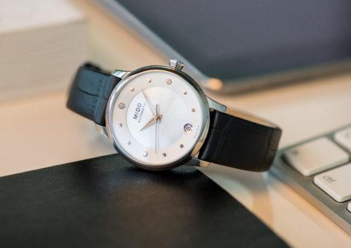 Mido Swiss automatic watches Baroncelli LadyDayNight M039 207 16 106 00 black strap work PR 1