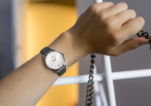 Mido Swiss automatic watches Baroncelli LadyDayNight M039 207 16 106 00 grey strap shop PR 4
