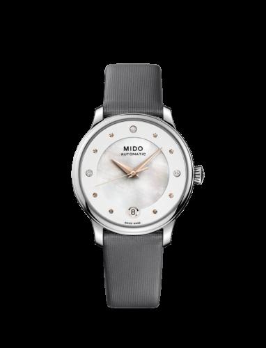 Mido Swiss automatic watch Baroncelli LadyDayNight M039 207 16 106 00 Grey starp