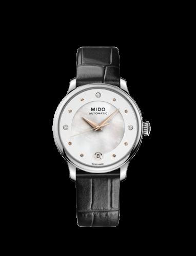 Mido Swiss automatic watch Baroncelli LadyDayNight M039 207 16 106 00 black strap