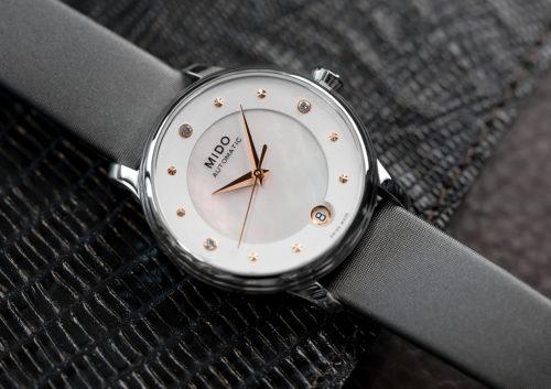 Mido Swiss automatic watches Baroncelli LadyDayNight M039 207 16 106 00 grey strap shop PR 3