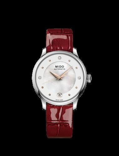 Mido Swiss automatic watch Baroncelli LadyDayNight M039 207 16 106 00 Red strap